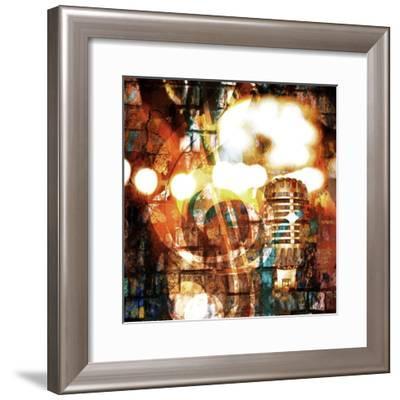 Rock-N-Roll Brick Wall Background-Zibedik-Framed Premium Giclee Print