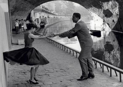 Rock 'n' Roll Dancers on Quays of Paris, River Seine, 1950s-Paul Almasy-Art Print
