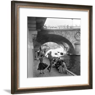 Rock 'n' Roll sur les Quais de Paris-Paul Almasy-Framed Giclee Print
