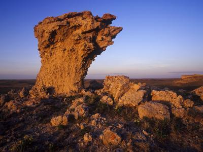 Rock Outcroppings in the Agate Fossil Beds National Monument, Nebraska, USA-Chuck Haney-Photographic Print