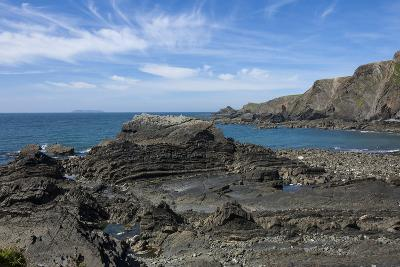 Rock Outcrops at Hartland Quay, North Cornwall, England, United Kingdom, Europe-James Emmerson-Photographic Print