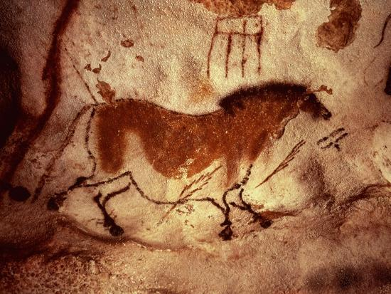 Rock Painting of a Horse, circa 17000 BC--Giclee Print