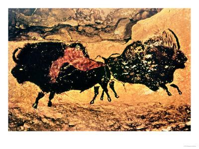 Rock Painting of Bison, circa 17000 BC--Giclee Print