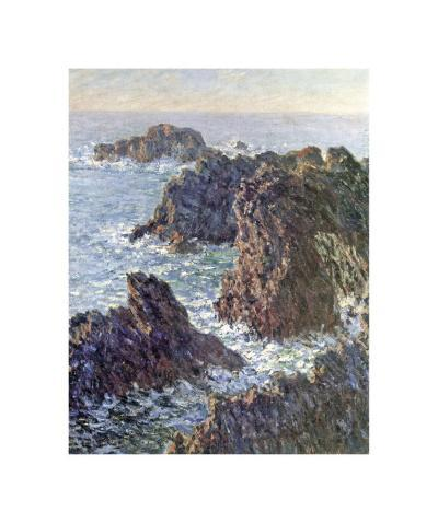 Rock Points at Belle-Ile, c.1886-Claude Monet-Giclee Print