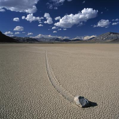 Rock Pushed by Wind in Desert-Micha Pawlitzki-Photographic Print