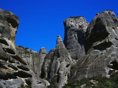 Rock Towers of Meteora-Perry Mastrovito-Photographic Print