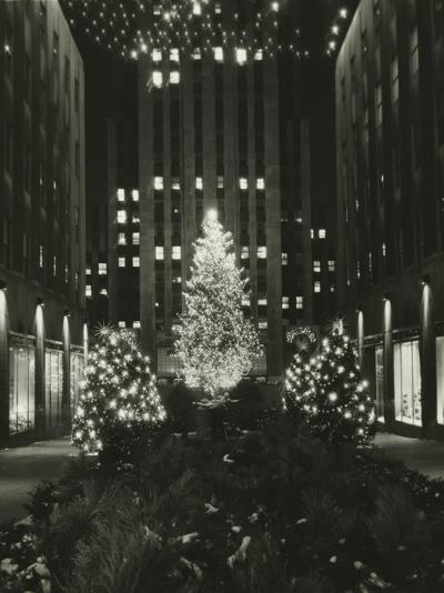 Rockefeller Center Decorated For Christmas, New York City-George Marks-Photographic Print