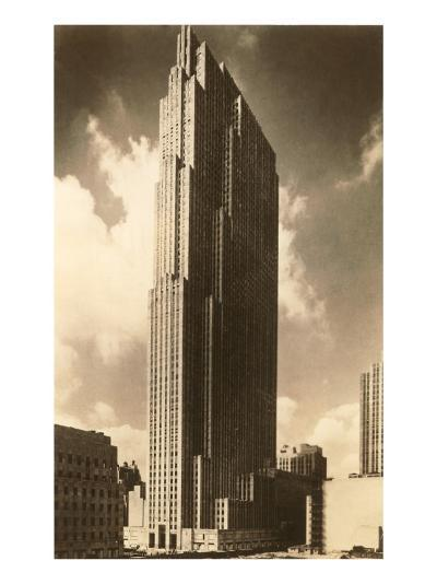 Rockefeller Center, New York City--Art Print