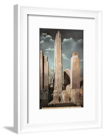 Rockefeller Center--Framed Giclee Print