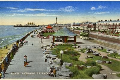 Rockery Promenade, Blackpool, Lancashire, C1940--Giclee Print