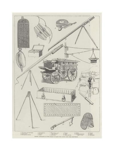 Rocket Apparatus of the Board of Trade for Saving Life from Shipwreck--Giclee Print