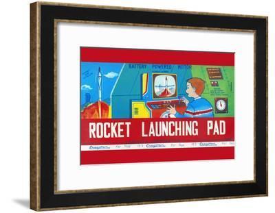 Rocket Launching Pad--Framed Art Print