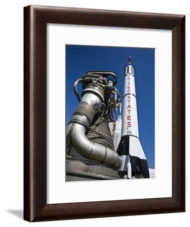 Rocket on the Pad at NASA Space Flight Center, Houston-Richard Nowitz-Framed Photographic Print