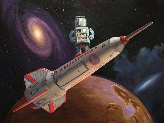 Rocket Surfer-Eric Joyner-Giclee Print