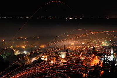 Rocket War on Greek Island of Chios-Vassil Donev-Photographic Print