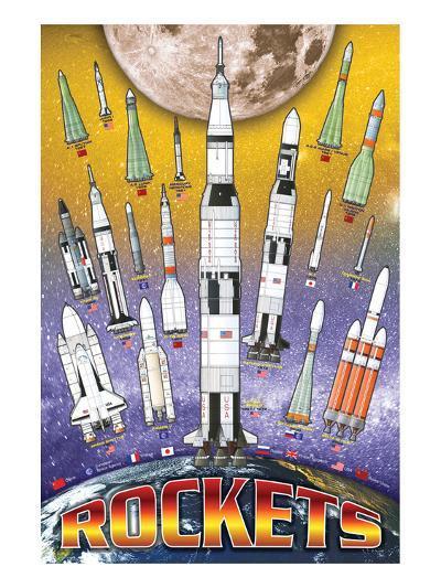 Rockets for Kids--Art Print