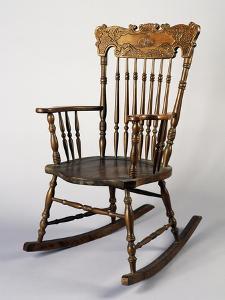 Rocking Chair, Dark Wood, Italy