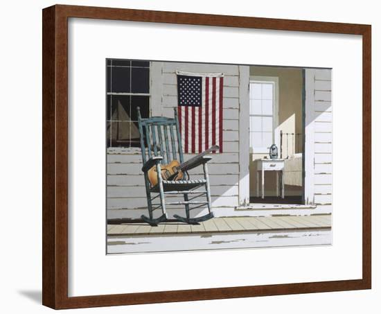 Rocking Chair with Guitar-Zhen-Huan Lu-Framed Photographic Print