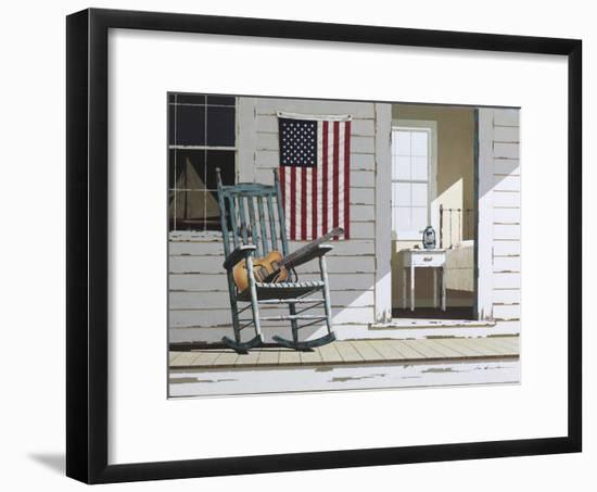 Rocking Chair with Guitar-Zhen-Huan Lu-Framed Photographic Print