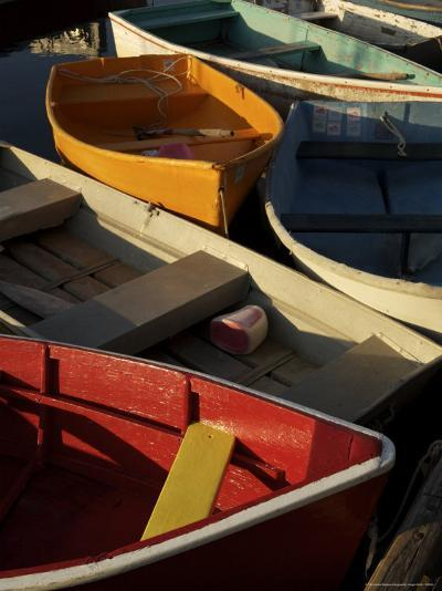 Rockport Harbor with Lobster Fishing Boats and Row Boats-Tim Laman-Photographic Print