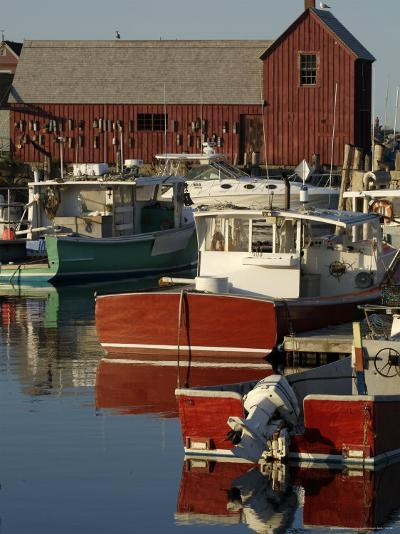 Rockport Harbor with Lobster Fishing Boats, Row Boats-Tim Laman-Photographic Print