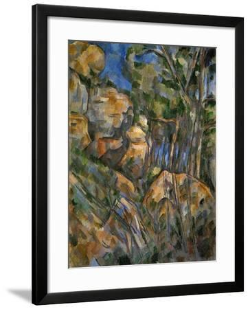 Rocks Above the Caves at Chateau Noir-Paul C?zanne-Framed Giclee Print