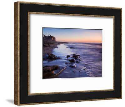 Rocks and Beach at Sunset, La Jolla, San Diego County, California, USA-Richard Cummins-Framed Photographic Print