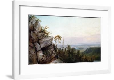 Rocks and Landscape-Frederic Edwin Church-Framed Giclee Print