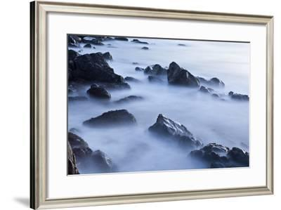 Rocks and Surf at Wallis Sands State Park in Rye, New Hampshire-Jerry & Marcy Monkman-Framed Photographic Print