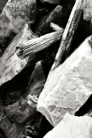 Rocks and Wood I BW-Alan Hausenflock-Photographic Print