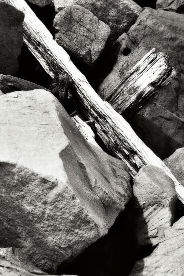 Rocks and Wood II BW-Alan Hausenflock-Photographic Print