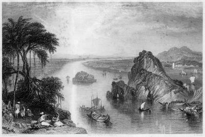 Rocks at Colgong on the Ganges, India, 1838-Edward Goodall-Giclee Print