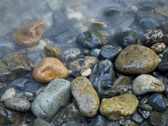 Rocks at edge of river, Eagle Falls, Snohomish County, Washington State,  USA Photographic Print by Corey Hilz | Art com