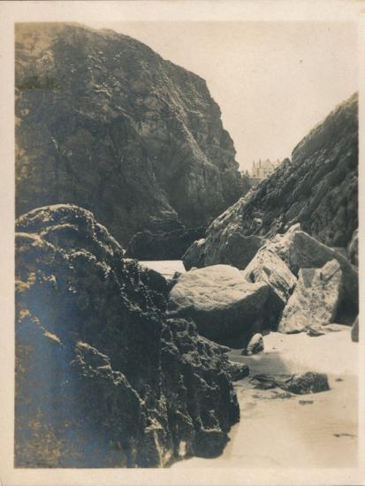 'Rocks at Newquay', 1927-Unknown-Photographic Print