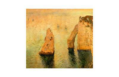 Rocks at Sea-Claude Monet-Giclee Print