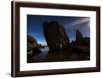 Rocks Dot the Coastline of Fiordland National Park-Michael Melford-Framed Photographic Print