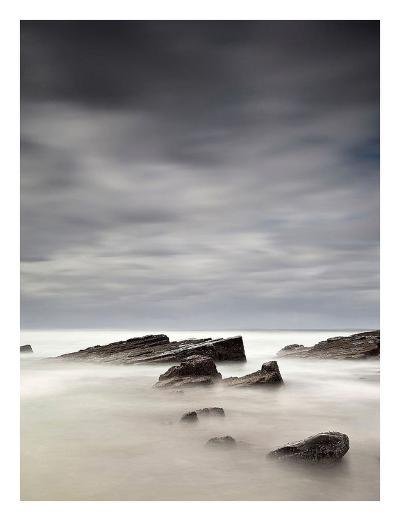 Rocks in Mist-PhotoINC Studio-Art Print