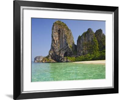 Rocks in the Phra Nang Beach, Ao Nang, Krabi, Thailand-Rainer Mirau-Framed Photographic Print