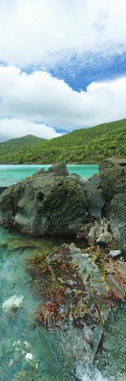 Rocks in the Sea, Jumbie Bay, St John, Us Virgin Islands--Photographic Print