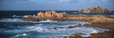 Rocks in the Sea, Le Diben, Morlaix Bay, Finistere, Brittany, France--Photographic Print