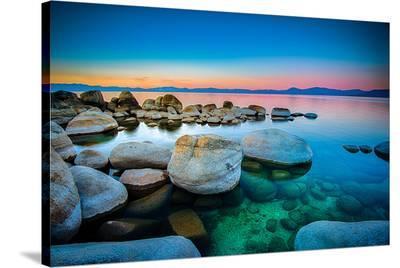 Rocks Lake Tahoe Sierra Nevada--Stretched Canvas Print