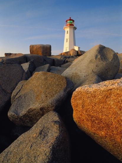 Rocks near Peggy's Cove Light-Ron Watts-Photographic Print