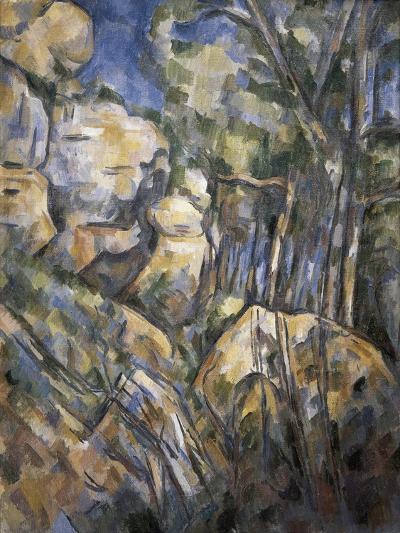 Rocks Near the Caves Below the Chateau Noir-Paul C?zanne-Art Print