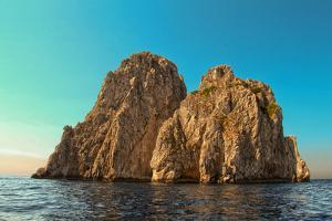 Rocks Off Coast of Island Capri, Italy Italy
