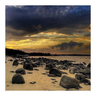 Rocks on Beach-PhotoINC Studio-Art Print