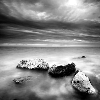 Rocks on Beach--Photographic Print