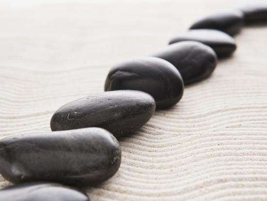 Rocks on sand-John Smith-Photographic Print