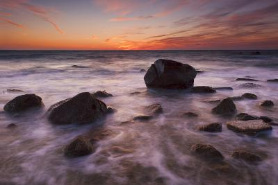 Rocks on Silky Water-Michael Blanchette-Photographic Print