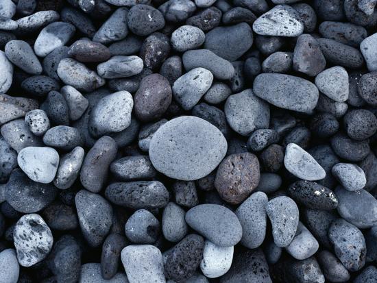 Rocks on the Beach of Hana Bay-Todd Gipstein-Photographic Print
