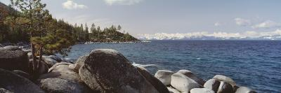 Rocks on the Coast, Lake Tahoe, California, USA--Photographic Print